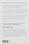Carlo ROVELLI - SEPT BRÈVES LEÇONS DE PHYSIQUE