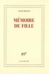 Annie ERNAUX - MÉMOIRE DE FILLE