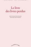 G. Van Straten -<br>LE LIVRE DES LIVRES PERDUS