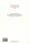 Grégoire BOUILLIER</br>LE DOSSIER M Livre 2