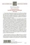Pierre Rosanvallon -<br>NOTRE HISTOIRE INTELLECTUELLE ET POLITIQUE 1968-2018