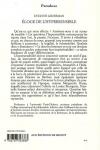Evelyne Grossman -<br>ÉLOGE DE L'HYPERSENSIBILITÉ