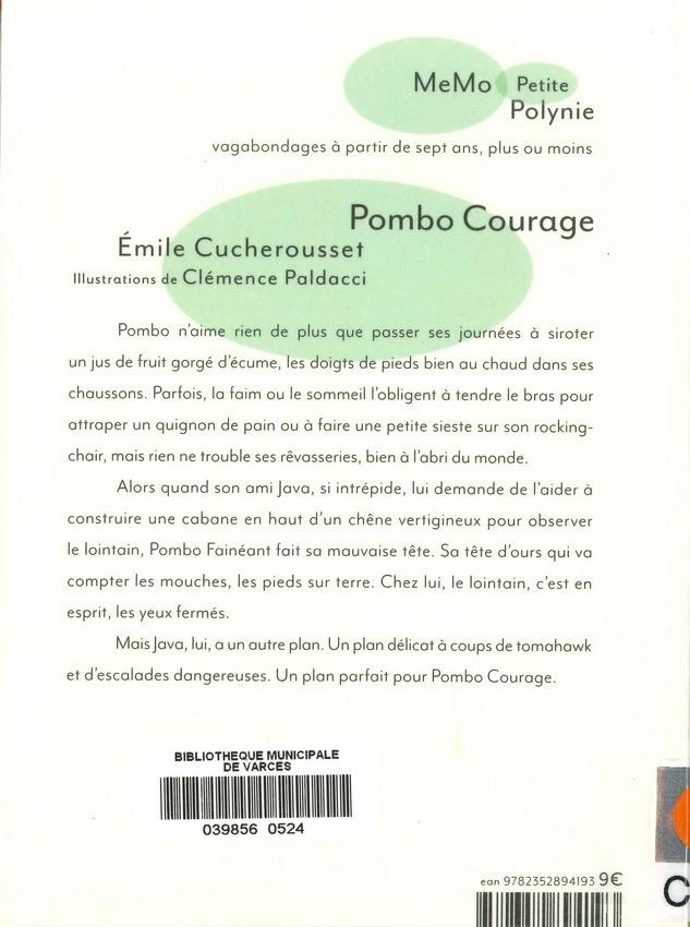 CUCHEROUSSET Émilie<br/>POMBO COURAGE
