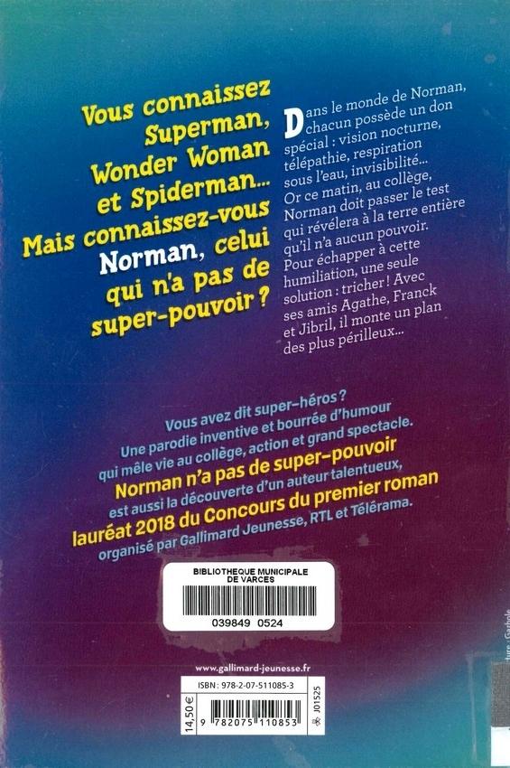 BENAOUDA Kamel<br/>NORMAN N'A PAS DE SUPER-POUVOIR