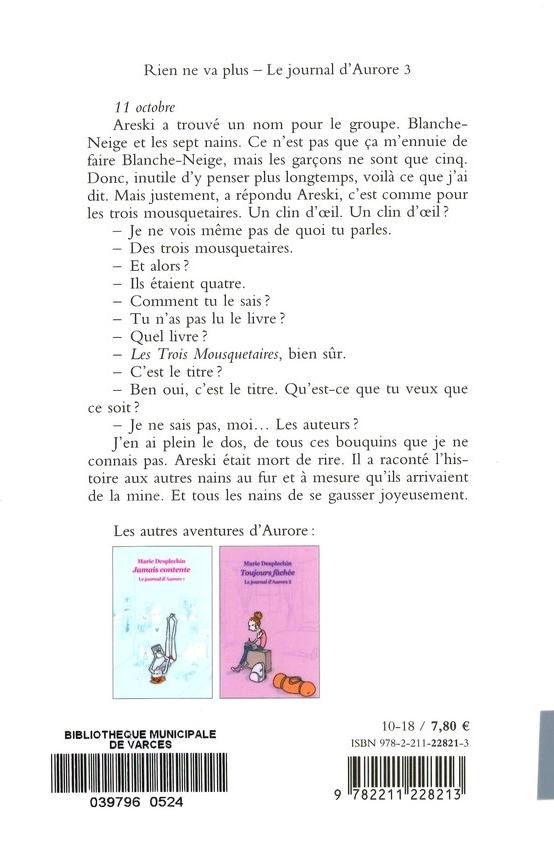 DESPLECHIN Marie<br/>JOURNAL D'AURORE T.3 (LE)