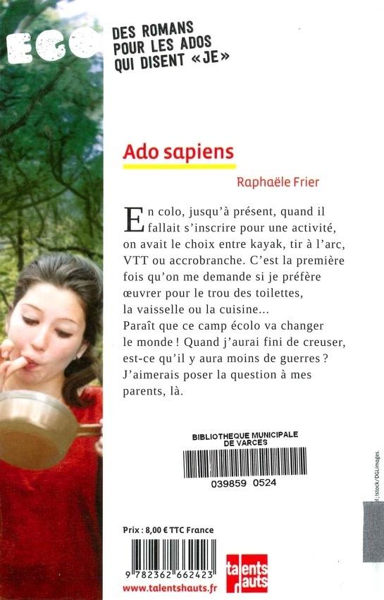 FRIER Raphaële<br/>ADO SAPIENS